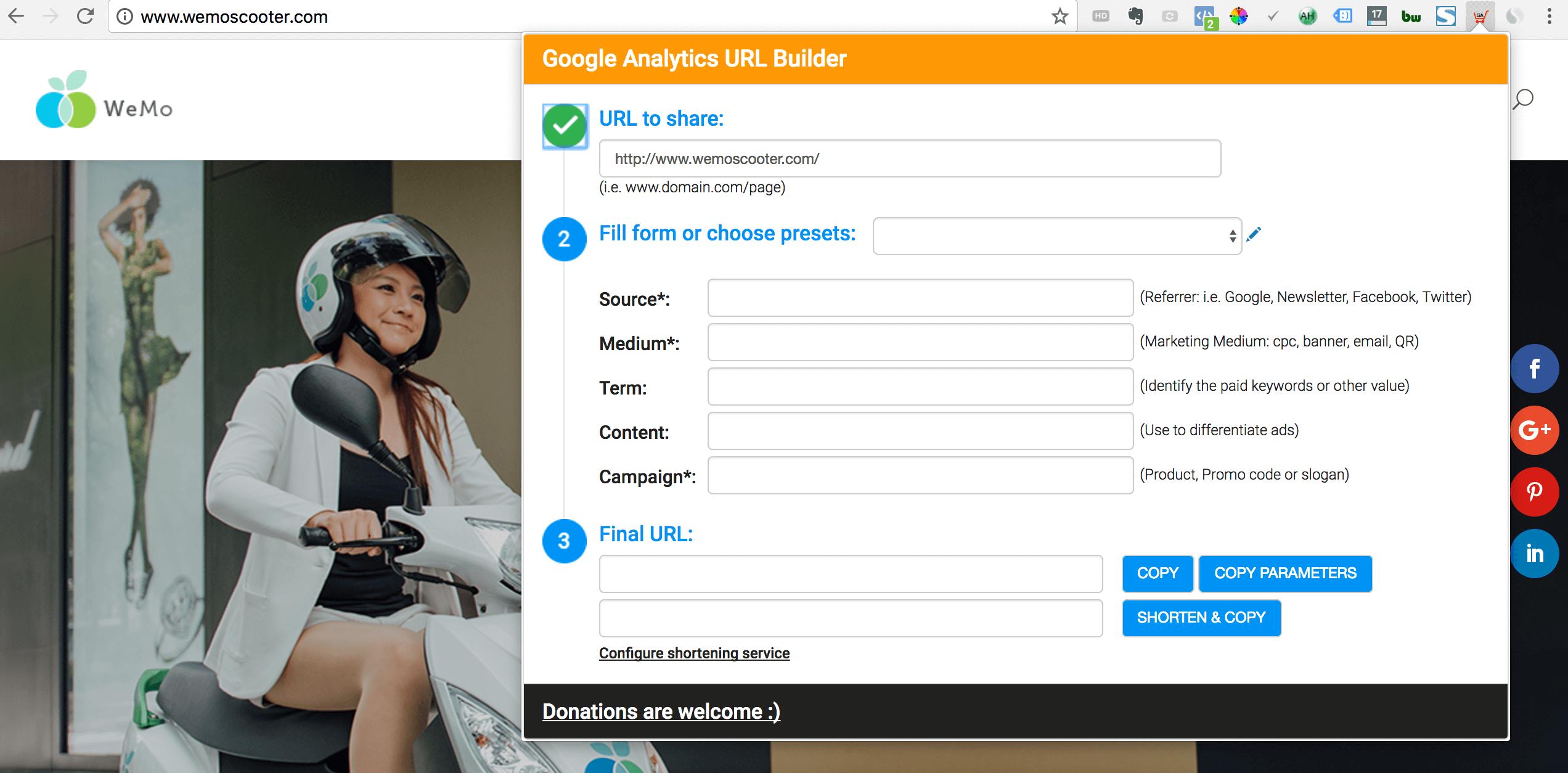 UTM-Chrome插件